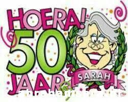 Nieuw 50 jaar Abraham Sarah Sara tips verjaardag feestboek gedichten GE-66