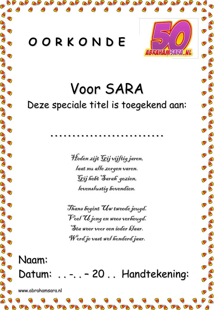 50 jaar sarah gedichten Sarah 50 Jaar Gedicht   ARCHIDEV 50 jaar sarah gedichten