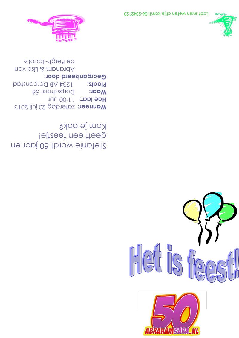 Verjaardagskaart Uitnodiging Tekst Inspectionconference